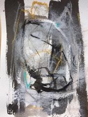 Acryl/ Tusche/ Kohle  a. Papier 17 x 24