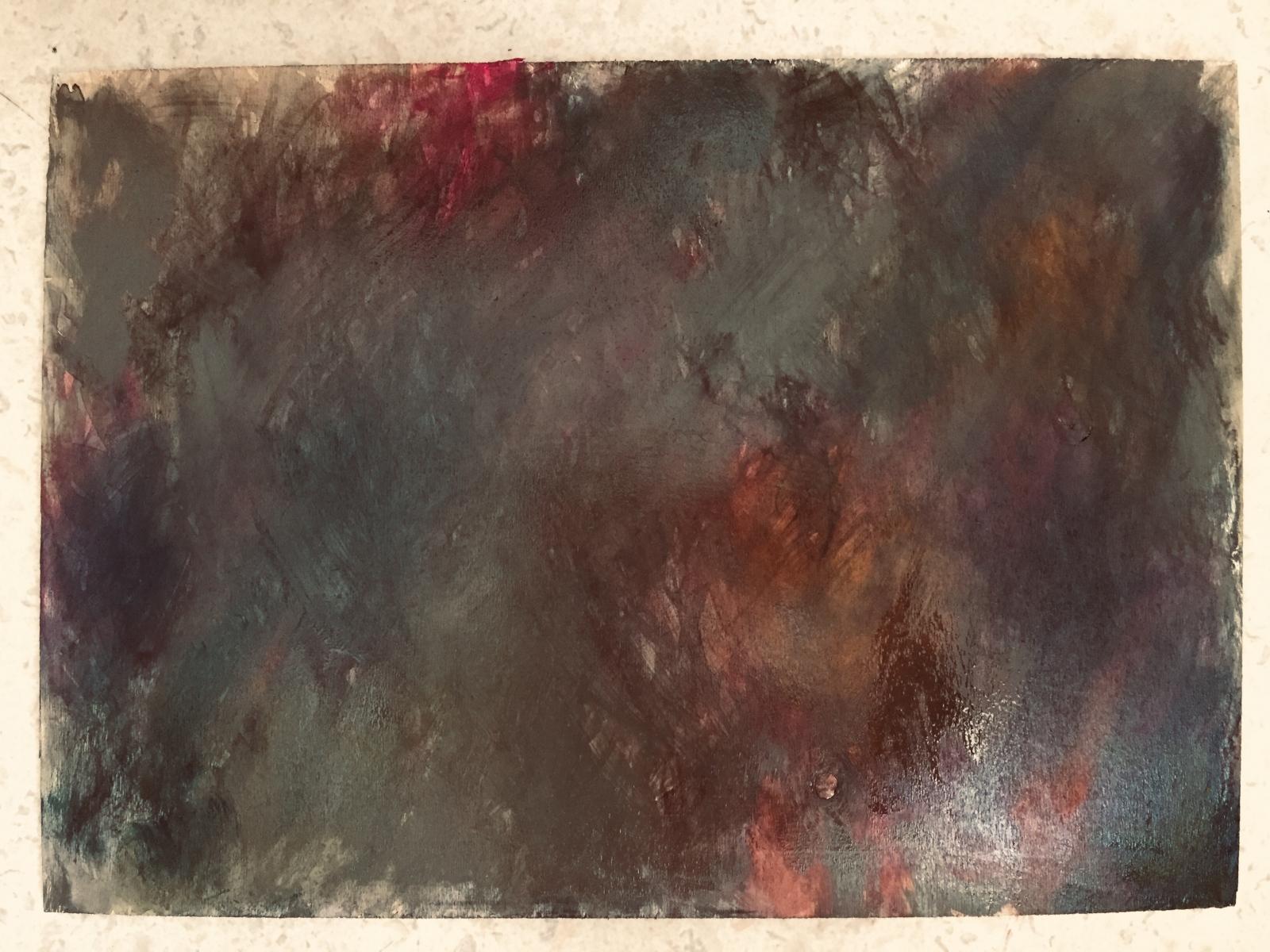 Novemberfflug-li, Öl a. Holz, 30x40, 2020